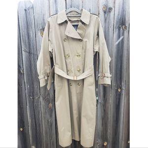 Vintage Burberrys Nova Check Tan Trench Coat